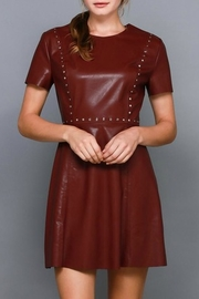 Do & Be Studded Leather Dress - Front cropped