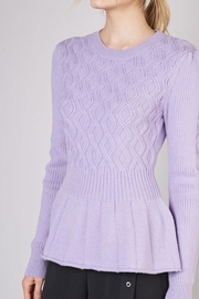 Do & Be Take A Piece Lavender Sweater - Product Mini Image