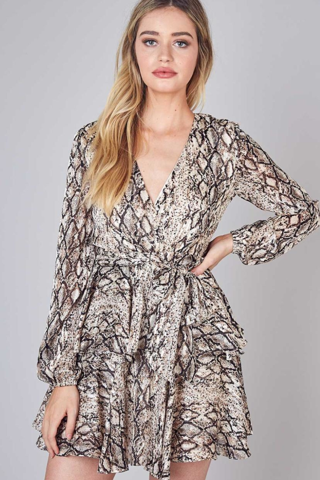 Do & Be Tie-Belted Ruffle Dress - Main Image