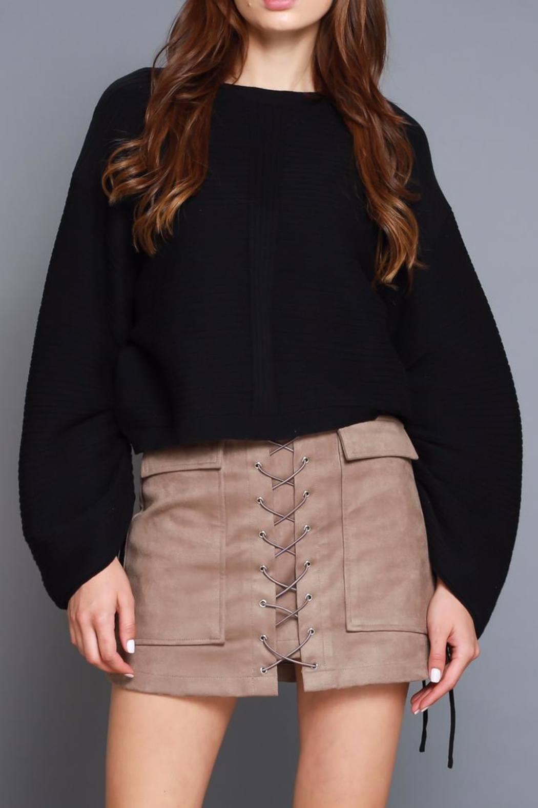 Do & Be Tie Cuff Sweater - Front Cropped Image