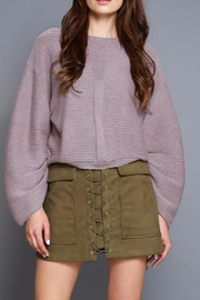 Do & Be Tie Cuff Sweater - Front cropped