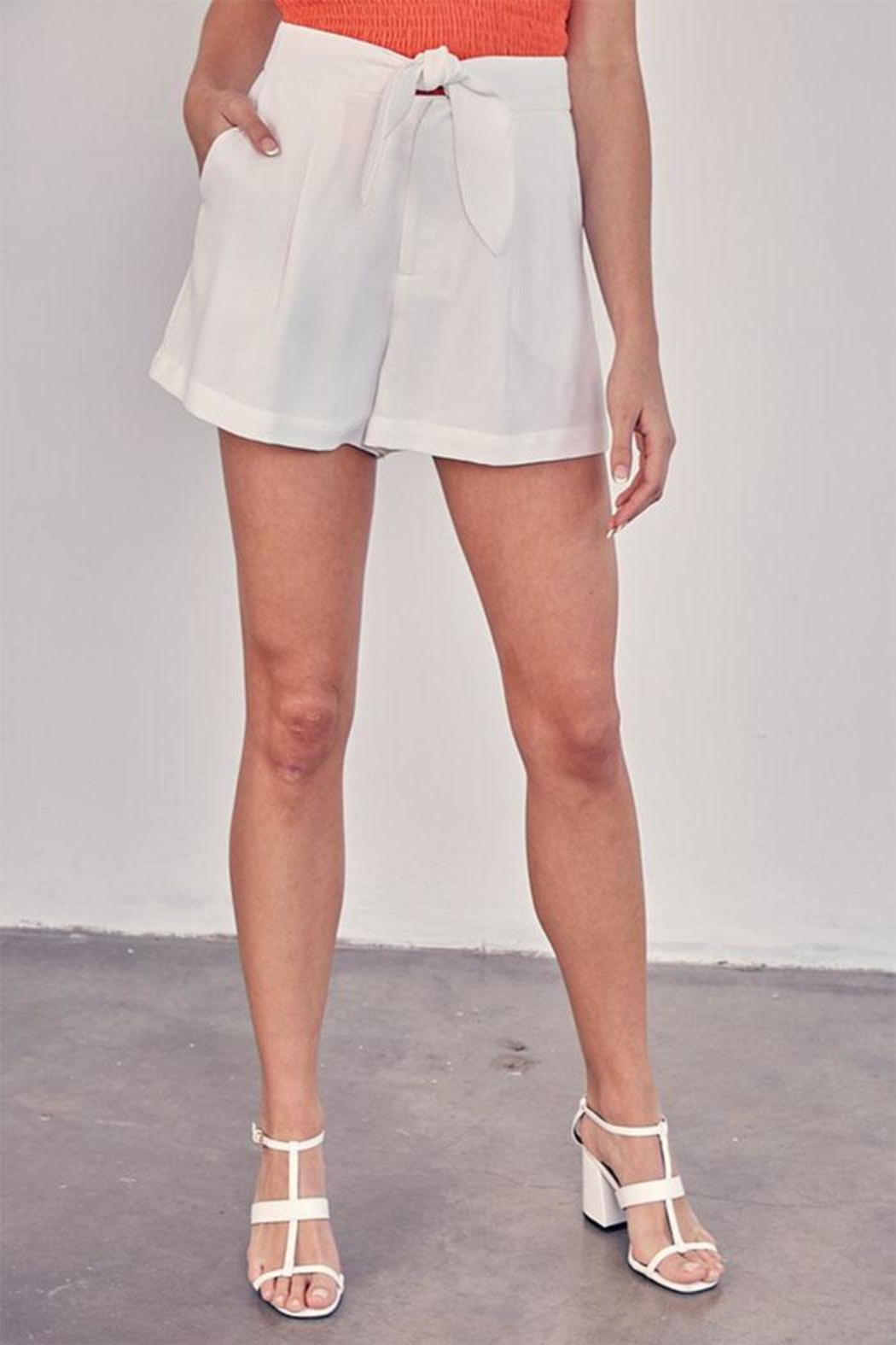 Do & Be Tie Front Shorts - Main Image