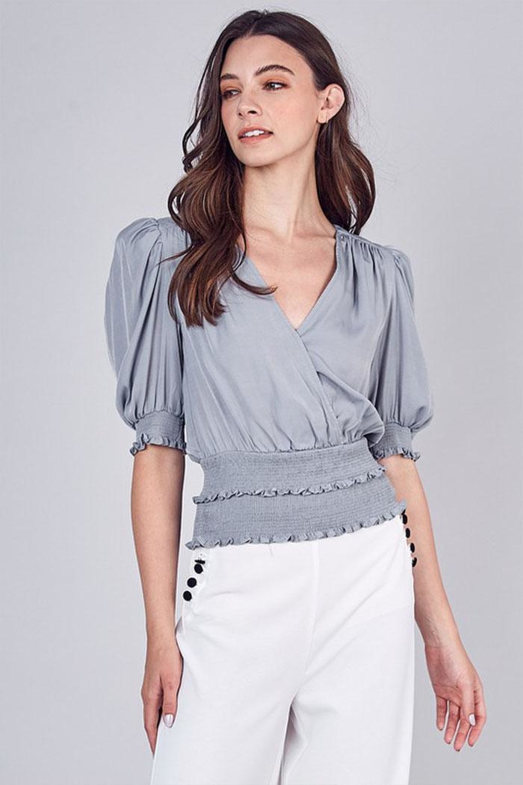 Do & Be Tiered V-Neck Top - Main Image