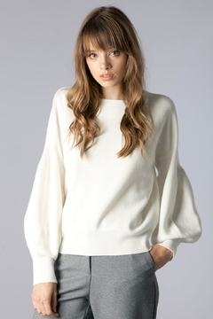 Shoptiques Product: Trumpet Sleeve Sweater