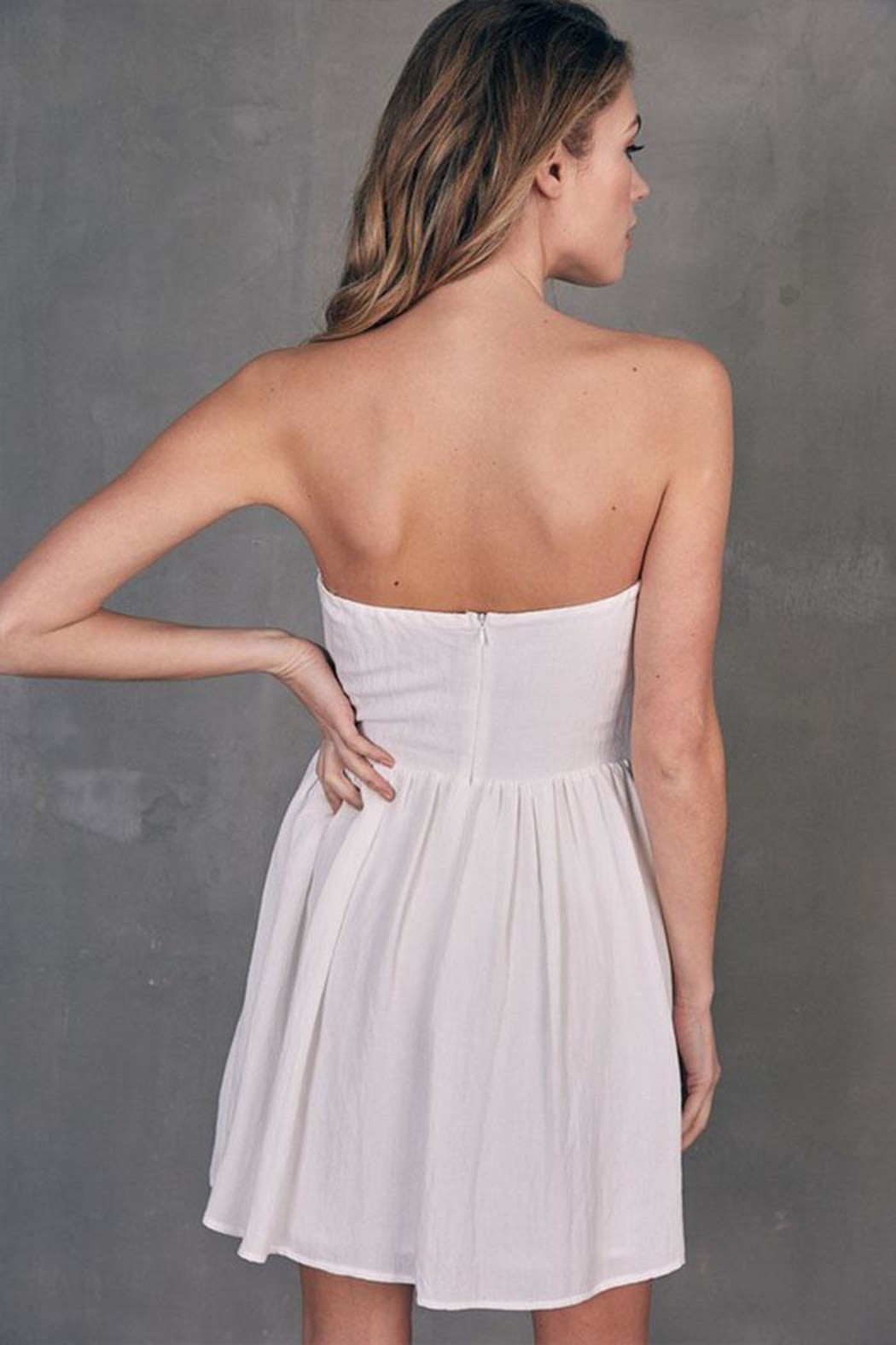 Do & Be Tube Tie-Front Dress - Back Cropped Image