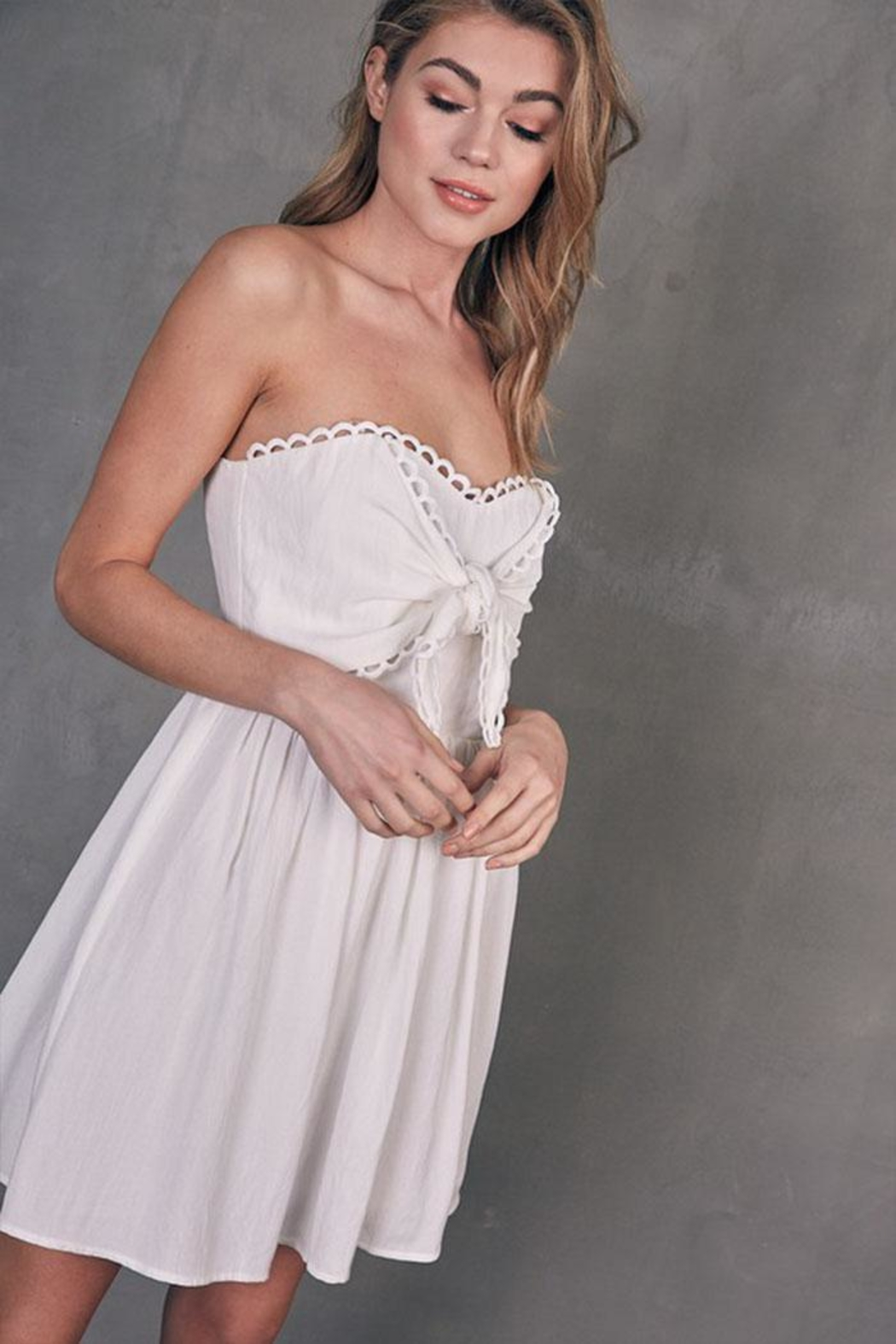 Do & Be Tube Tie-Front Dress - Front Full Image