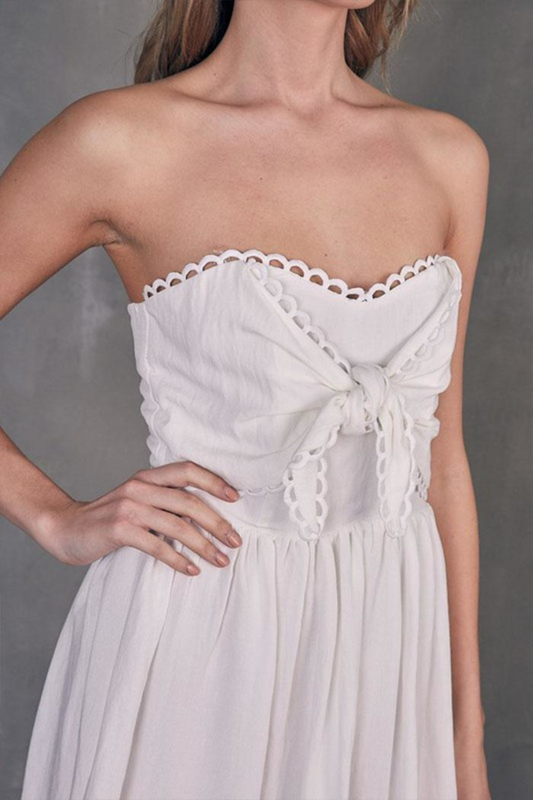 Do & Be Tube Tie-Front Dress - Side Cropped Image
