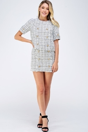 Do & Be Tweed Skirt Set - Front full body