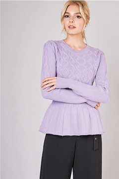 Shoptiques Product: Twist Cable Peplum Sweater
