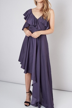 Shoptiques Product: Unbalanced Shoulder Asymmetric Dress