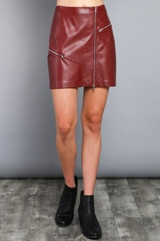 Do & Be Vegan Leather Skirt - Front cropped