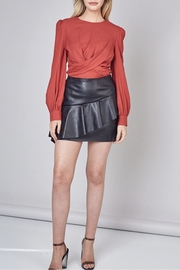 Do & Be Vegan Leather Skirt With Ruffle - Product Mini Image