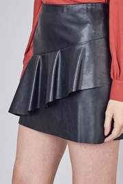 Do & Be Vegan Leather Skirt With Ruffle - Back cropped