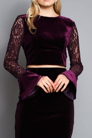 Do & Be Velvet Crop Top - Product Mini Image