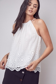 Do & Be White Embroidered Top - Product Mini Image
