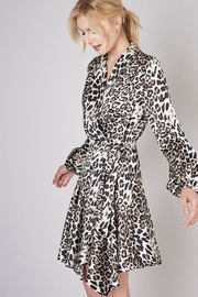 Do & Be White Leopard Wrap Dress - Product Mini Image