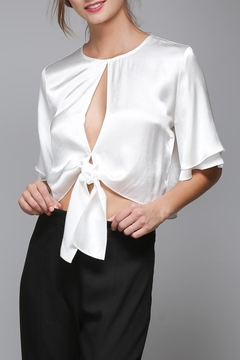 Shoptiques Product: White Satin Shirt