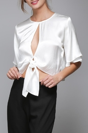Do & Be White Satin Shirt - Product Mini Image