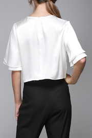 Do & Be White Satin Shirt - Side cropped
