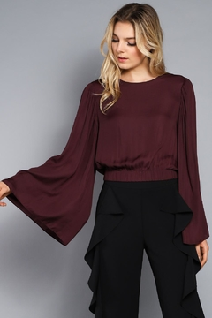 Shoptiques Product: Wide Sleeve Crop Top
