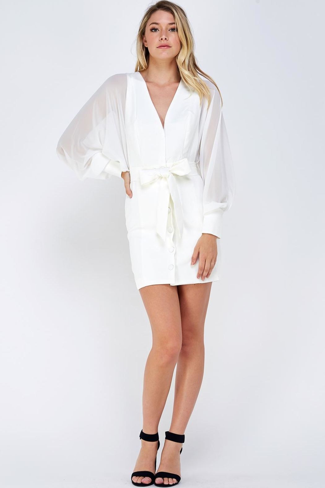 Do & Be Wide Sleeve Dress - Front Full Image