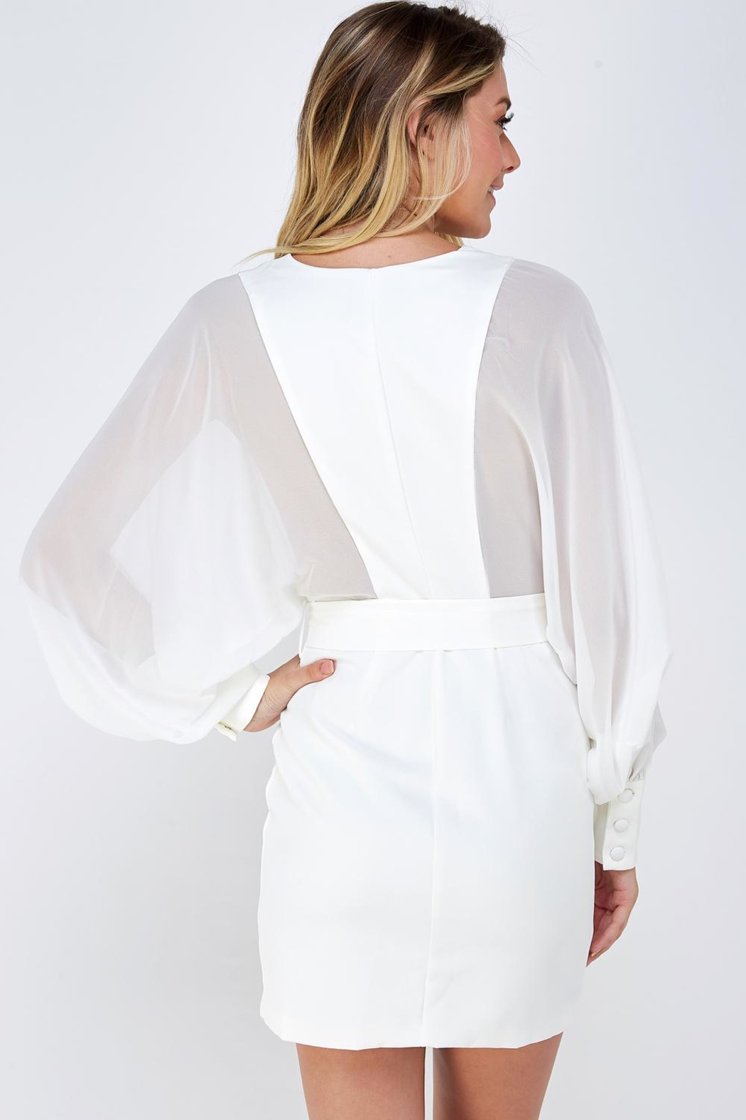 Do & Be Wide Sleeve Dress - Back Cropped Image