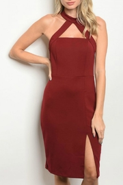Do & Be Wine Slit Dress - Product Mini Image