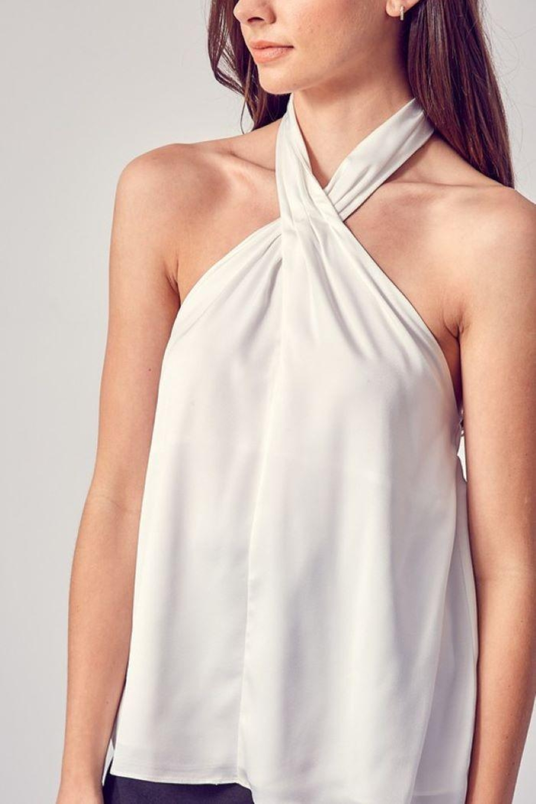 Do & Be Woven Halter Neck Top - Front Full Image