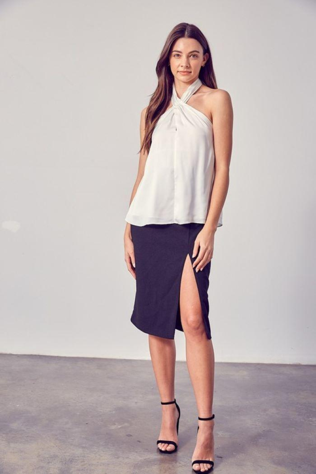 Do & Be Woven Halter Neck Top - Side Cropped Image