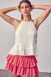Do & Be Woven Pleated Top - Product Mini Image