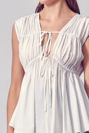 Do & Be Woven Ruched Peplum Top - Product Mini Image