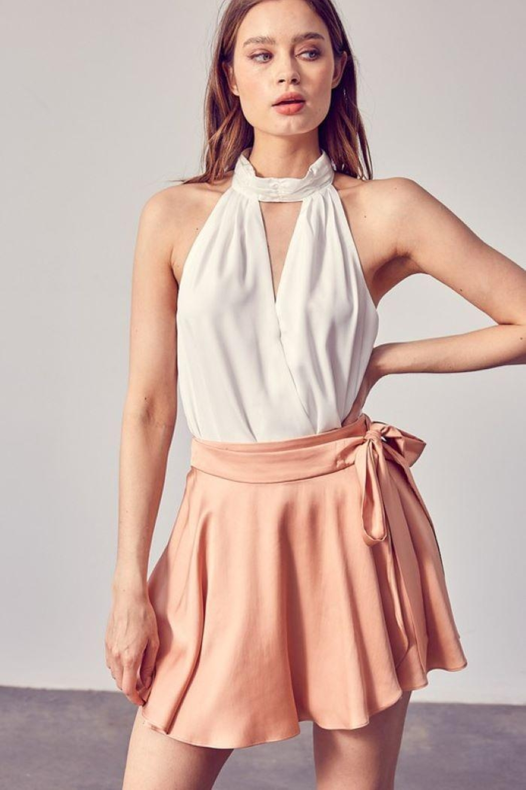Do & Be Woven Sleeveless Bodysuit - Front Cropped Image