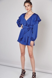 Do & Be Wrap Front Romper With Ruffle Collar - Other