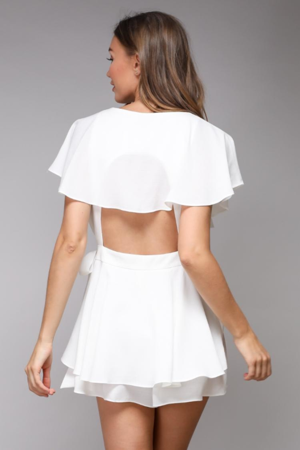 Do & Be Wrap Playsuit Romper - Side Cropped Image