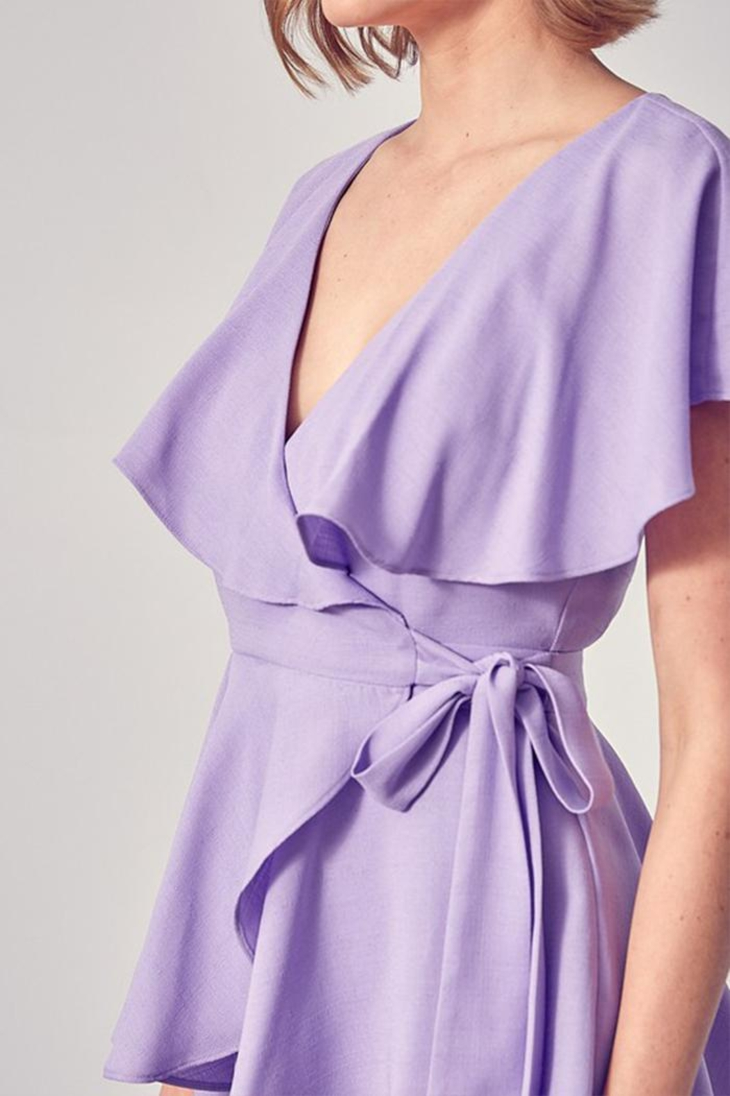 Do & Be Wrap Side Romper - Side Cropped Image