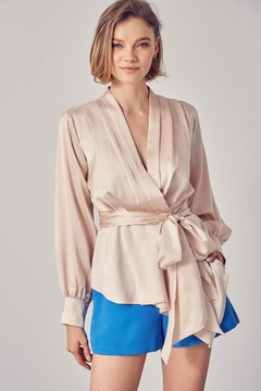 Do & Be Wrap Side-Tie Top - Product List Image