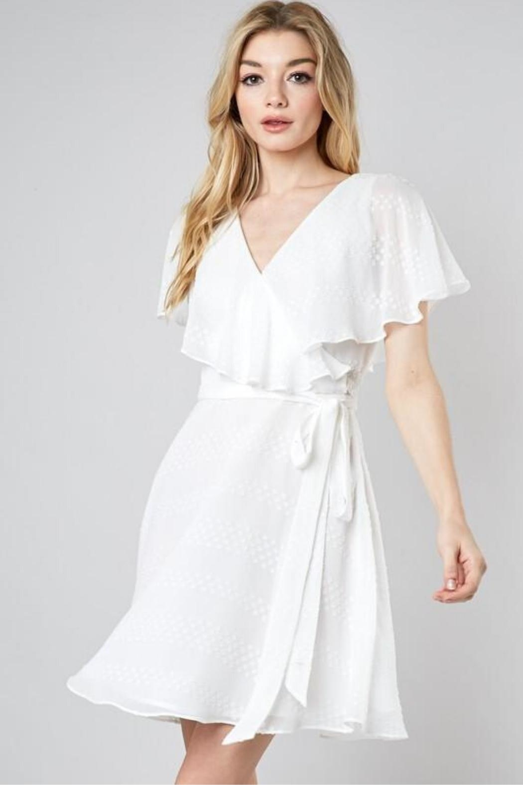 Do & Be Wrapped Ruffle Dress - Side Cropped Image