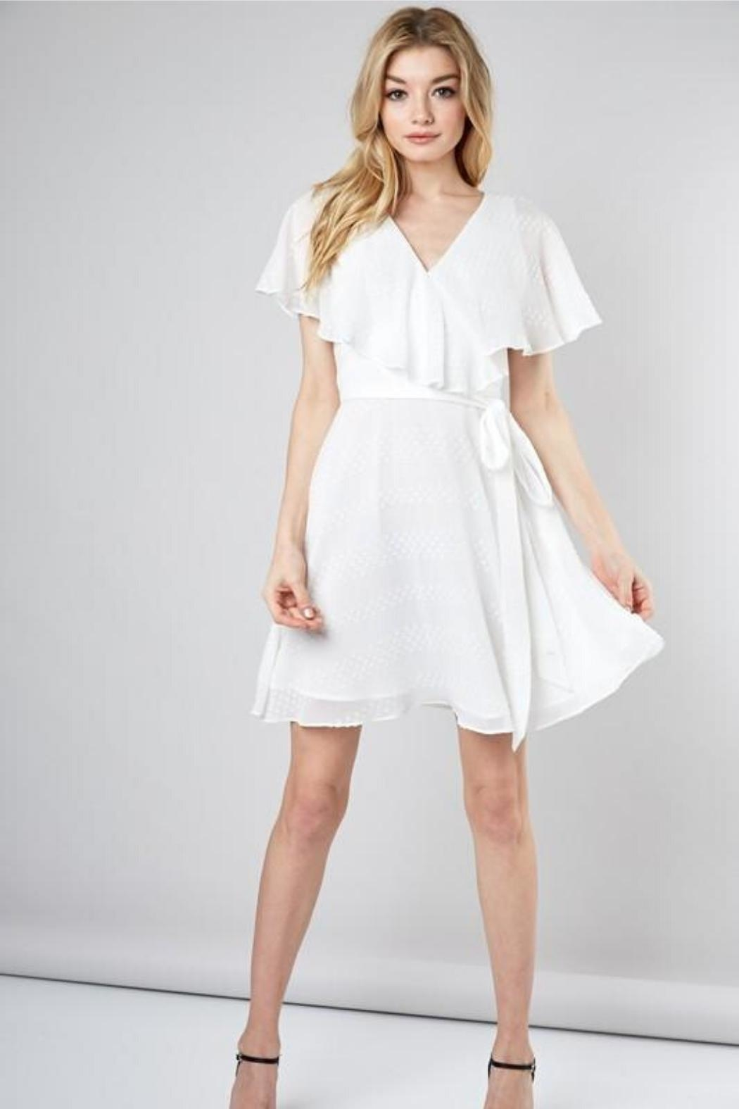 Do & Be Wrapped Ruffle Dress - Front Cropped Image