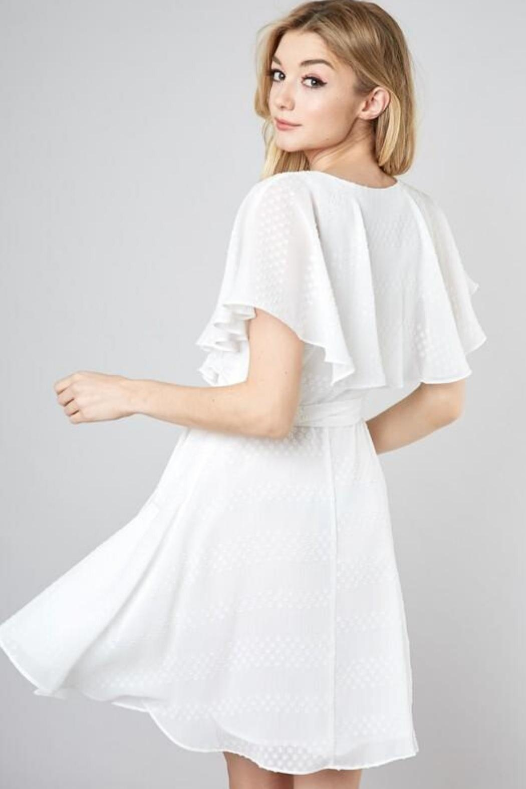 Do & Be Wrapped Ruffle Dress - Front Full Image