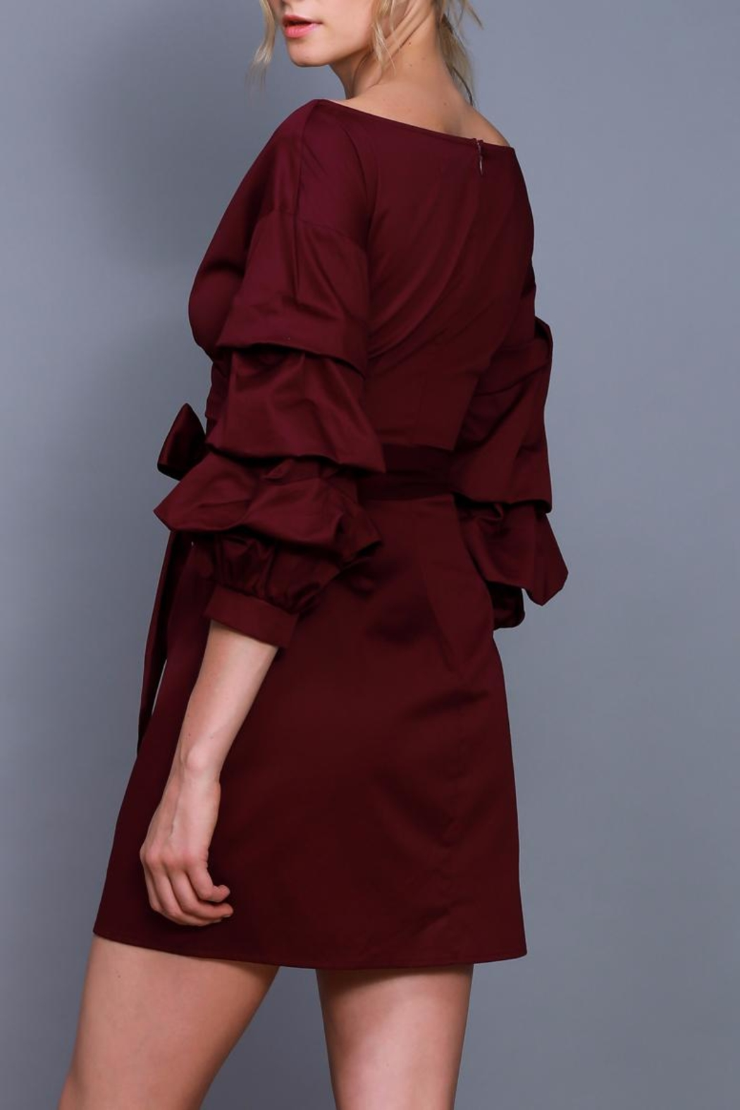 Do & Be Wrapped Tie Dress - Front Full Image