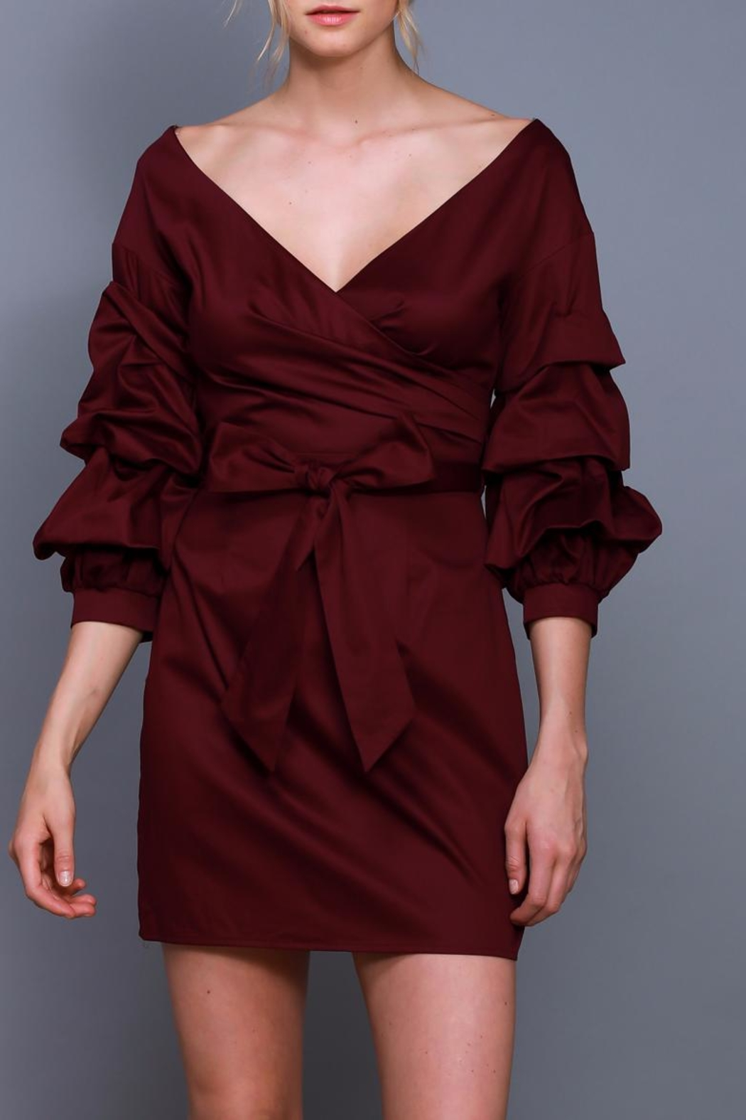 Do & Be Wrapped Tie Dress - Main Image