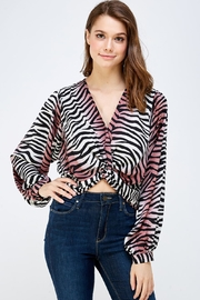 Do & Be Zebra Print Blouse - Product Mini Image