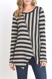 Do & Be Lana Zip Top Sweater - Front cropped