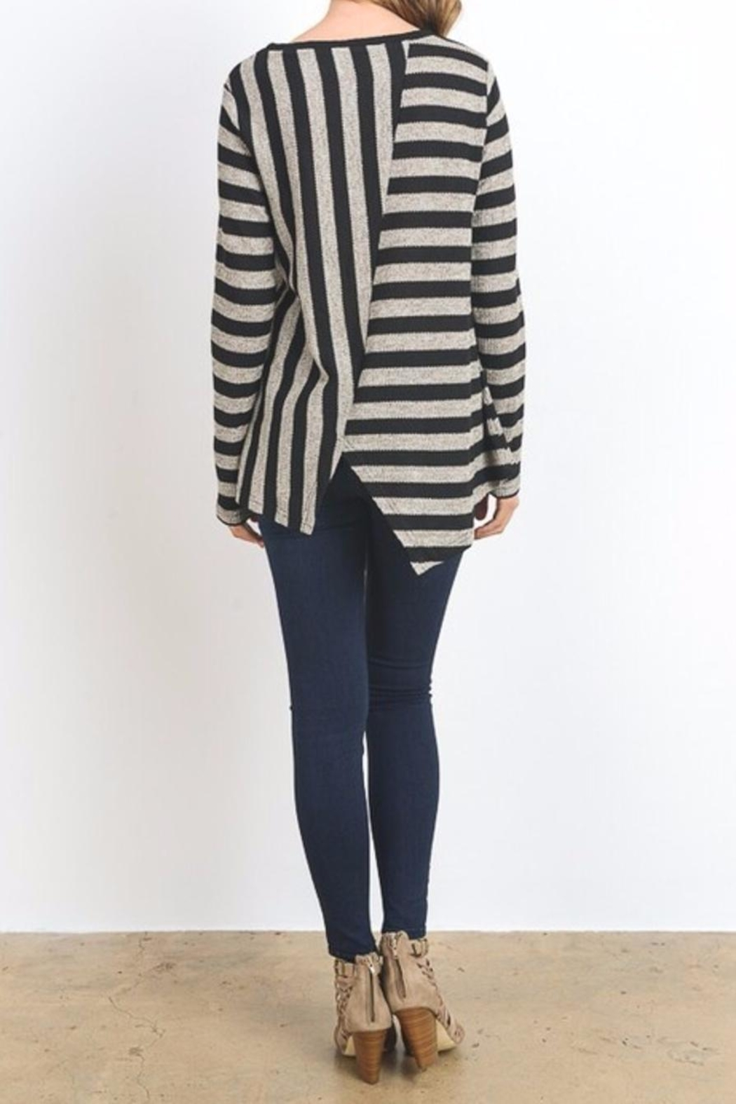 Do & Be Lana Zip Top Sweater - Front Full Image