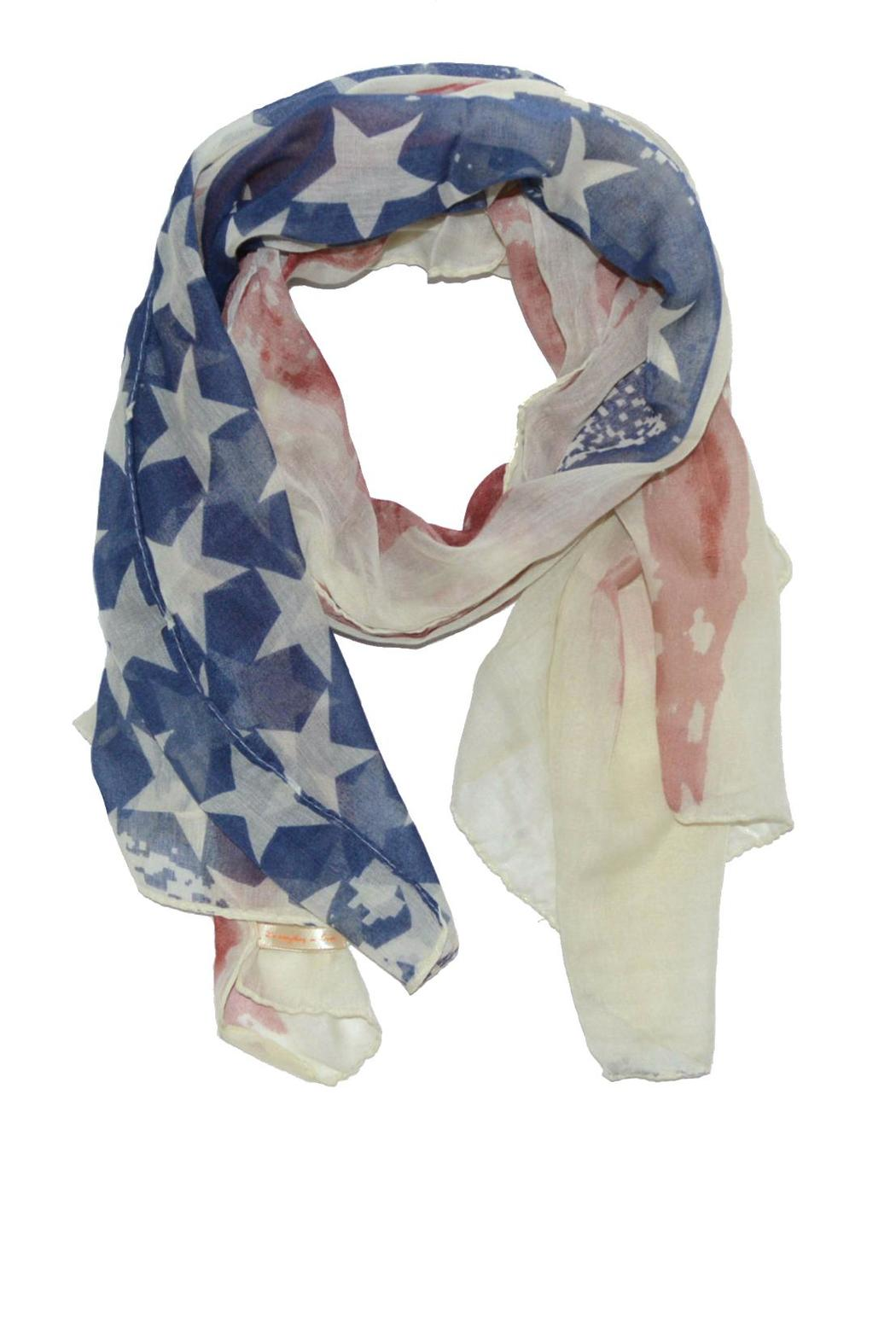 Do Everything in Love American Flag Scaf - Main Image