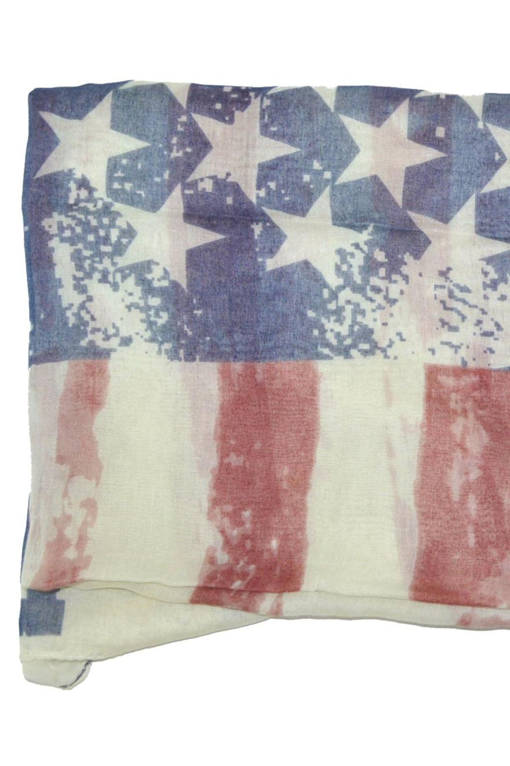 Do Everything in Love American Flag Scaf - Front Full Image
