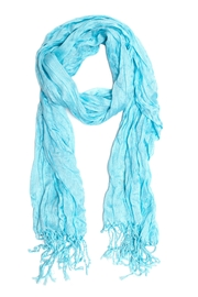Do Everything in Love Blue Crinkle Scarf - Front cropped