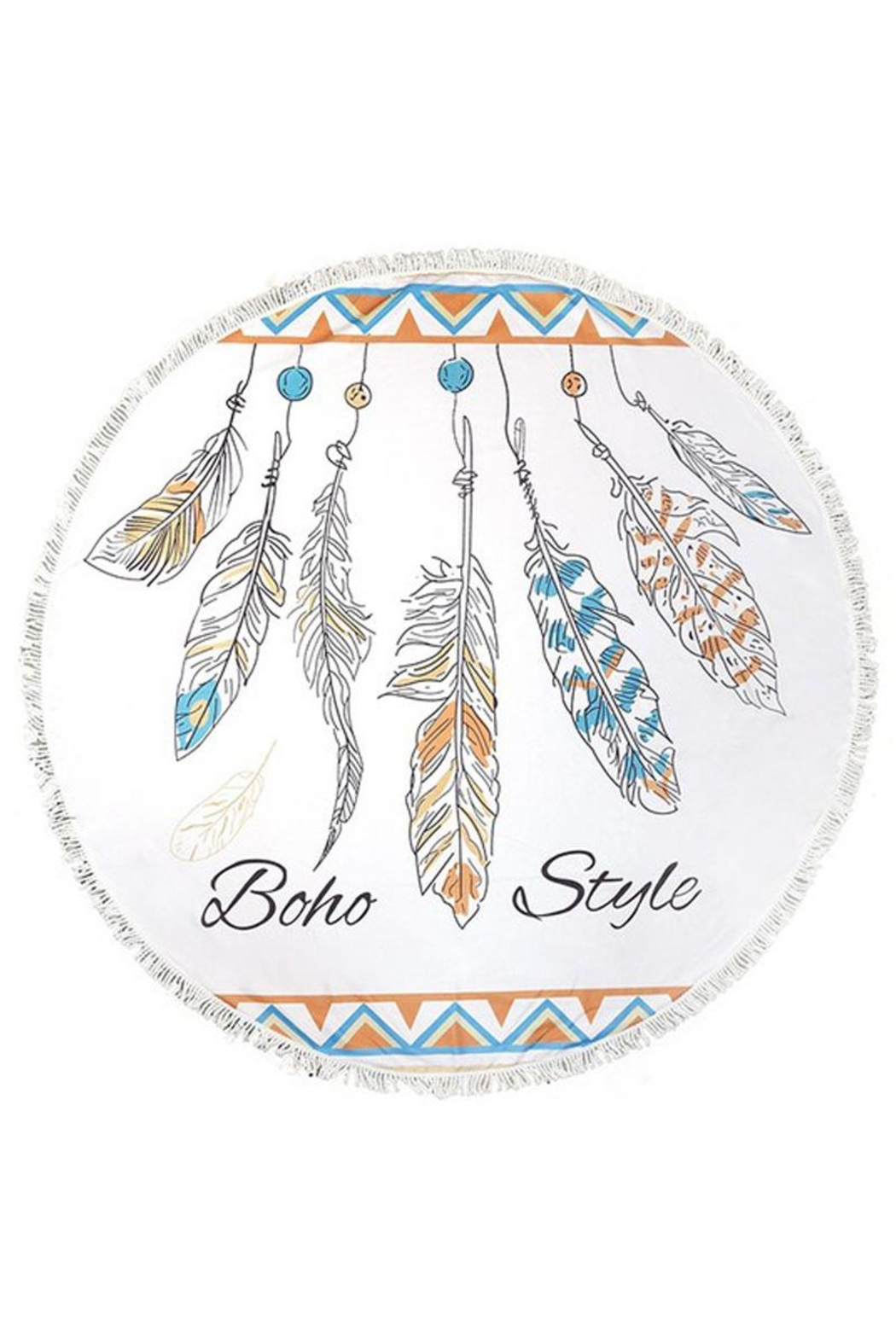 Do Everything in Love Boho Feather Towel - Main Image