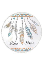 Do Everything in Love Boho Feather Towel - Product Mini Image