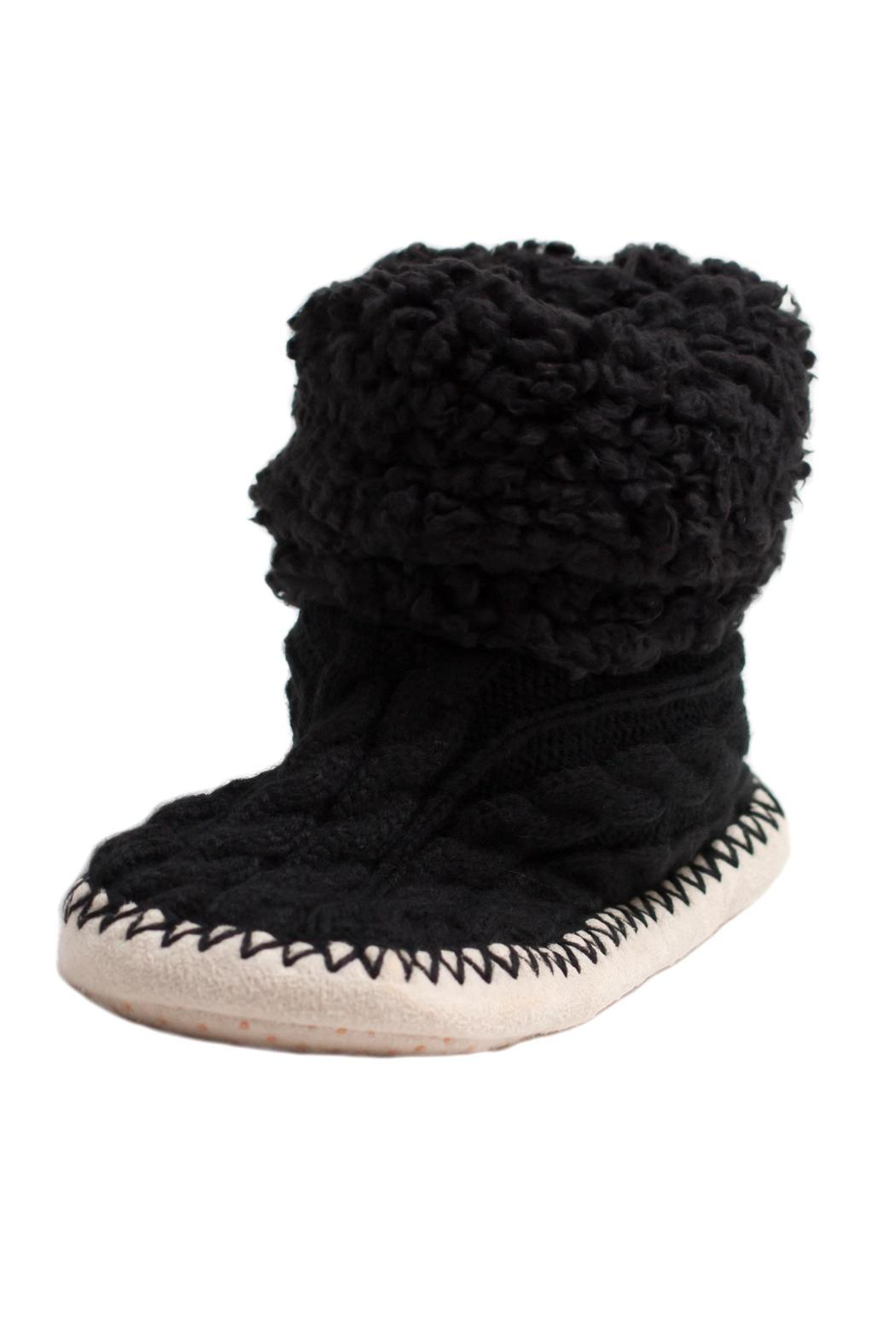 Do Everything in Love Cable Knit Slippers - Front Full Image